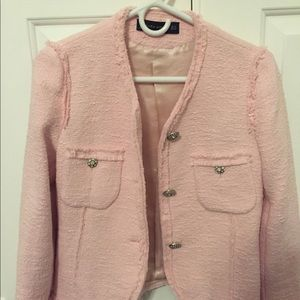 Zara pink blazer new